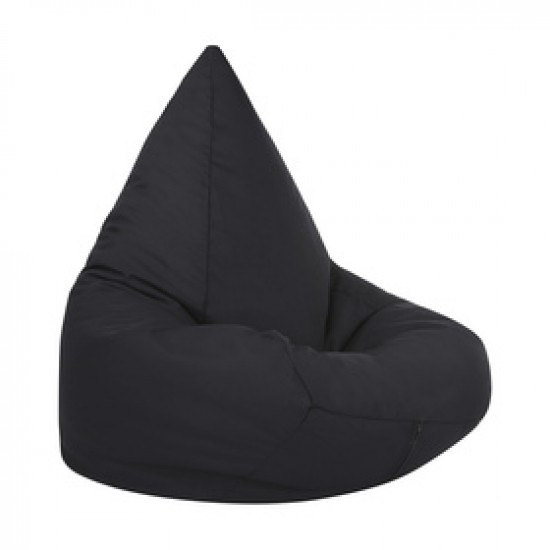Black flush beanbag