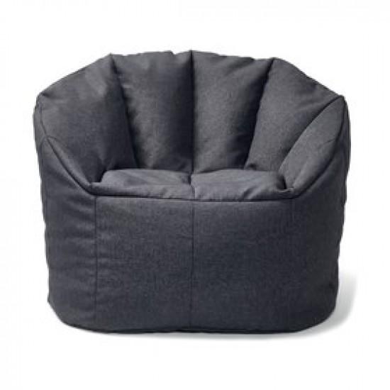 Cozy big size grey beanbag armchair