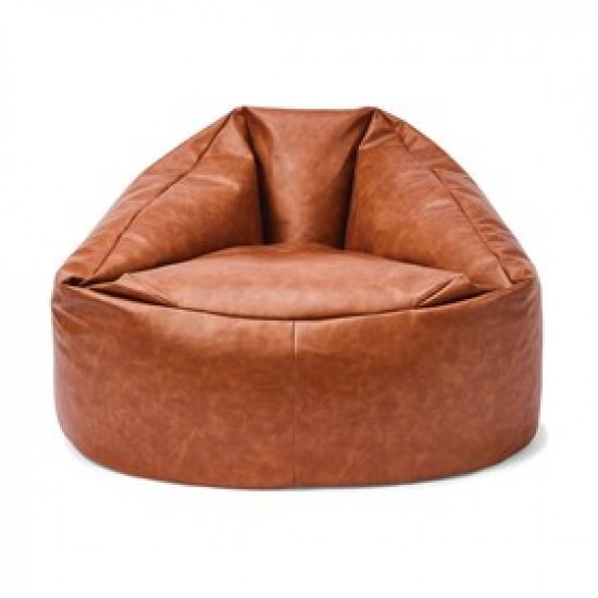 Leather luxury brown Bean Bag