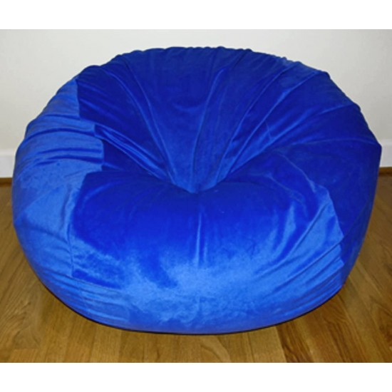 Ahh! Products Cuddle Minky Blue Washable Large Bean Bag Chair | Luxury Bean Bags