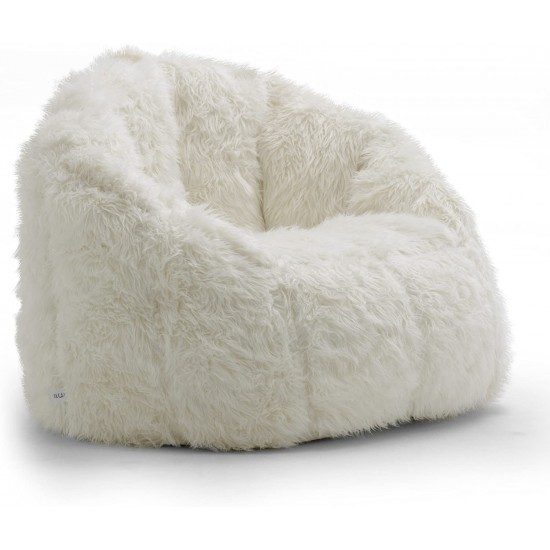 Big Joe Milano, Regular, Ivory Shag | Luxury Bean Bags