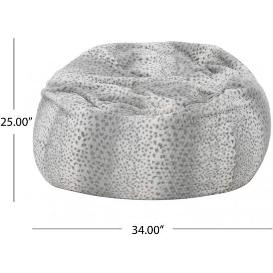 Heavy Metal Inc Meridian Bean Bag Plush Faux Fur Chair | Luxury Bean Bags
