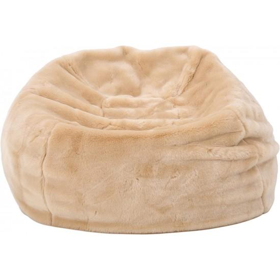 Heavy Metal Inc Meridian Bean Bag Plush Faux Fur Chair Tannery   Luxury Bean Bags